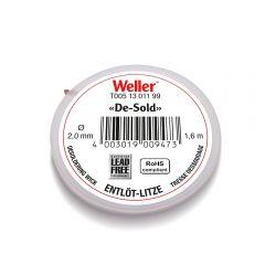 Оплетка для выпайки Weller 1,6 м, 2,0 мм